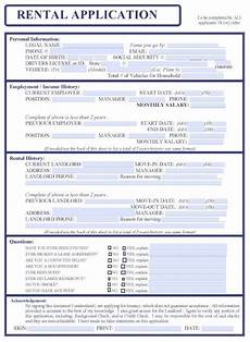 printable sle free rental application form form rental agreement templates being a