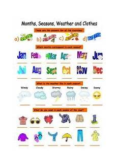 worksheets seasons and clothes 14754 seasons months weather and clothes esl worksheet by karen1980