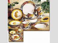 Leopard Dinnerware Set & Zebra Dinnerware Animal Print