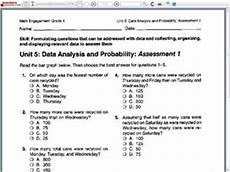 statistics and probability worksheets 8th grade 6005 data analysis and probability assessment 1 6th 8th grade worksheet lesson planet