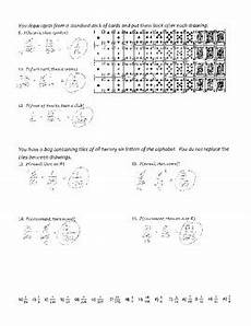 probability of compound events worksheet with answer key 5980 compound probability 1 joke worksheet with answer key by plant problems