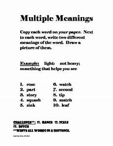multiple meaning words worksheets by speech therapy tpt