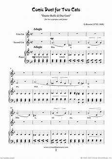 rossini comic duet for two cats sheet music for two