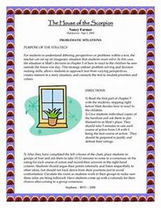 house of the scorpion lesson plans the house of the scorpion problematic situations lesson