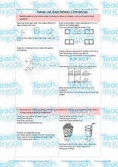 patterns worksheets ks2 133 number and shape patterns relationships teach my