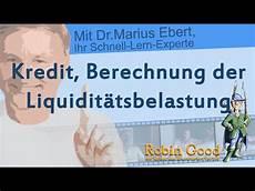 kredit berechnung der liquidit 228 tsbelastung