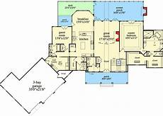 ranch house plans walkout basement plan 29876rl mountain ranch with walkout basement floor