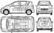 dimensions classe a 2006 mercedes a class w169 hatchback blueprints free