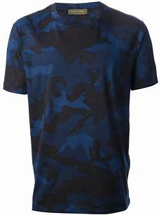 lyst valentino camouflage t shirt in blue for