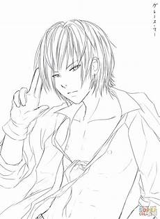 coloring pages of anime boys at getdrawings free