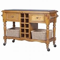 hton granite top kitchen island trolley in honey buy kitchen islands trolleys 178960