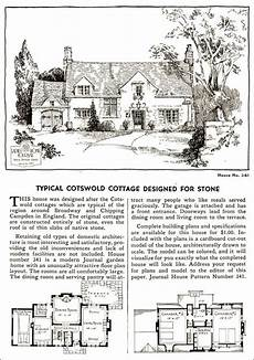 cotswold cottage house plans 1935 english cotswold style cottage ladies home journal