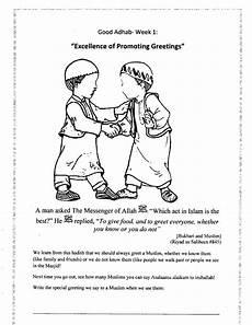 arabic worksheets greetings 19823 a muslim homeschool adhab week 1 excellence of promoting greetings islam for