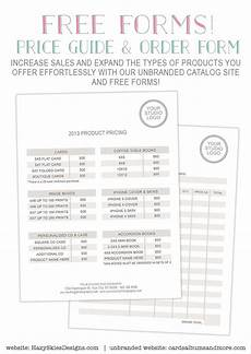 free photography forms pricing guide and order form photography tricks tips pinterest