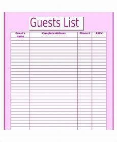 wedding guest list template 9 free word excel pdf documents download free premium templates