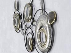 wand deko design art kreise ii aus metall breite 78cm