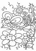 Spring Time Coloring Page & Book For Kids