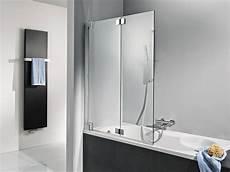 Duschabtrennung Badewanne Glas - bath shower screens folding bath screens in frameless glass