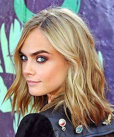 cara delevingne medium wavy light bob haircut