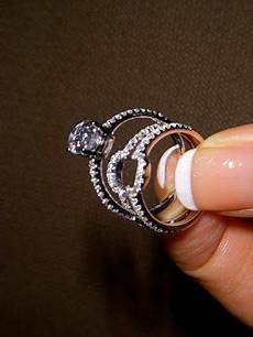 i absolutely adore this idea a wedding ring wrap for a bulky engagement ring that wouldn t look