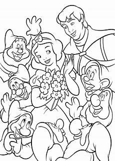 seven dwarfs free colouring pages
