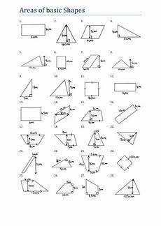 shapes areas worksheets 1036 area of basic shapes worksheet ks3 teaching resources