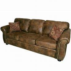 porter designs elk river brown transitional leather look