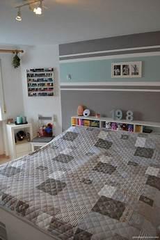 wandgestaltung wohnzimmer streifen einrichtung schlafzimmer interior design bedroom t 252 rkis grau streifen stripes grey turquoise