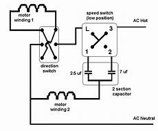 i need a wire diagram for a 3 speed 3 wire switch and diagram of capacitor for a tfp 352