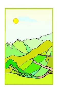 Malvorlagen Landschaften Gratis Landschaft Berge Ausmalbild Malvorlage Landschaften