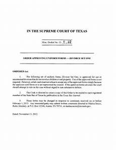 order approving uniform forms divorce one fill online printable fillable blank