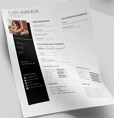 free minimal clean resume cv template psd titanui
