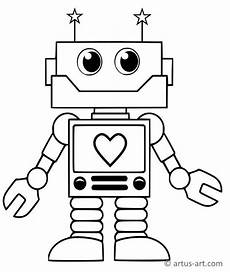 sweet robot coloring page 187 printable coloring page