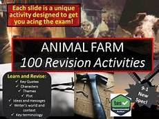 animal farm revision worksheets 14028 100 revision activities for animal farm by ajs12345 teaching resources