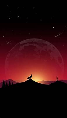 Wallpaper Galaxy Aesthetic Wolf by Wallpaper 1440x2560 Wolf Howl Loneliness