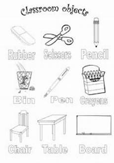 colors and school objects worksheets 12788 classroom objects colouring esl worksheet by mariajmr