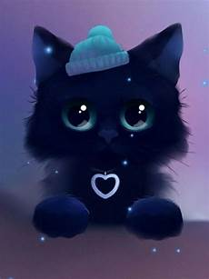 Kawaii Black Cat Wallpaper android 用の kawaii cat wallpaper apk をダウンロード