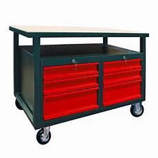 Werkbank Auf Rollen - werkbank mit 6 schubladen auf rollen rollwagen anthrazit rot