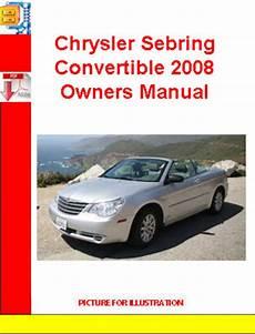car repair manuals online pdf 2007 chrysler sebring engine control chrysler sebring convertible 2008 owners manual download manuals