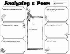 analyzing poetry worksheet 4th grade 25451 graphic organizer for student to analyze a poem its elements grades 4 poetry