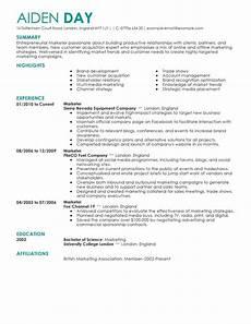 marketing resume exles marketing sle resumes livecareer