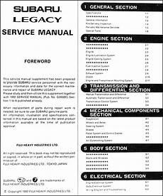 auto repair manual free download 1993 subaru legacy electronic valve timing 1993 subaru legacy repair shop manual supplement original