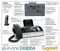 gigaset dx800a all in one siemens gigaset dx800a biurowy telefon all in one na 6