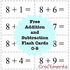 free printable basic math flash cards 10797 craftiments free printable addition and subtraction flash cards