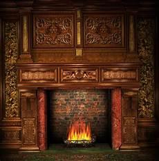 10x10ft Vintage Room Frame Wall Bricks Fireplace