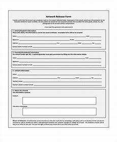 free 9 sle artwork release forms in pdf ms word
