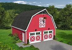 classic barn style garage with loft 68477vr architectural designs house plans