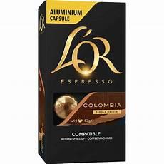 l or espresso l or espresso colombia capsules coff3420 cos complete office supplies