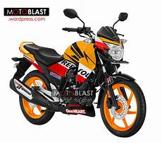 Modifikasi Megapro by Modifikasi Striping Honda Mega Pro Versi Repsol Edition