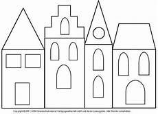 Malvorlage Haus Weihnachten Fensterbild H 228 User Mit Transparentpapier 3